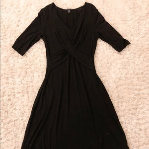 Banana Republic Black 3/4 Sleeve Stretch Dress